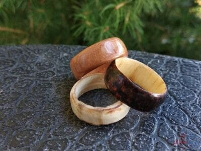 Drevené ručne vyráané prstene