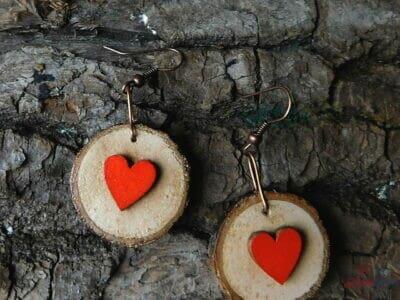 kolieskové drevené srdcovky