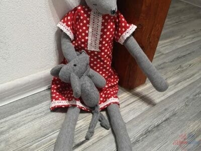 Bavlnená myška 70 cm,