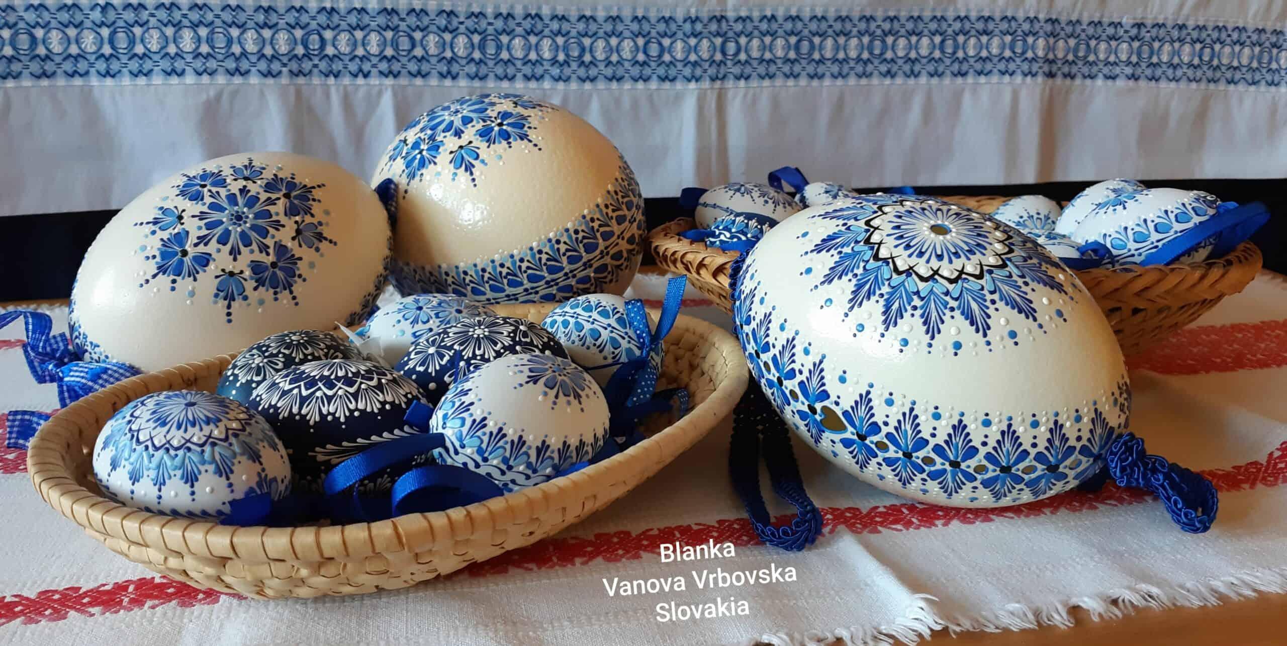 Veľkonočné vajíčka / kraslice, maľované a vŕtané