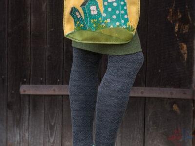 Ručne šitá a maľovaná kabelka