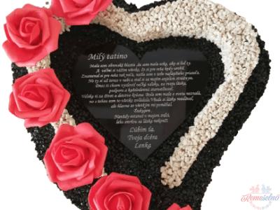 Kamienkové srdce + tabuľka s vlastným textom