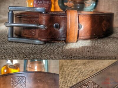 Ručne vyrobený opasok z hovädzej kože