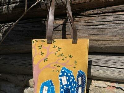 Ručne šitá kožená kabelka