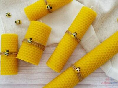 Sviečky zo 100% včelieho vosku
