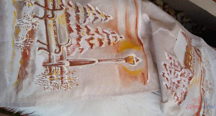 Maľované zimné vankúše